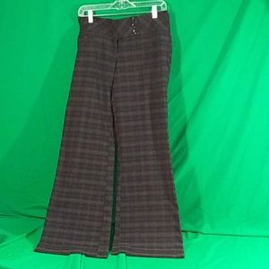 Maurice's gray and black plaid wide leg trousers 5